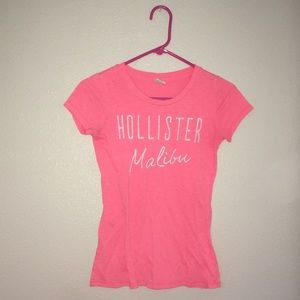 GREAT CONDITION hollister pink fitted top